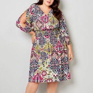 Avenue Print Dress Sz 22/24 🆕